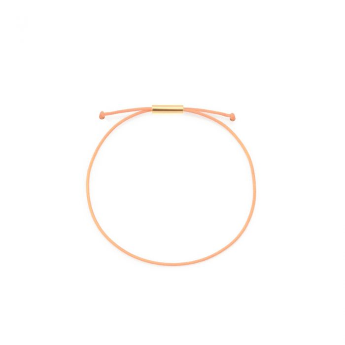 be patient armband peach gold