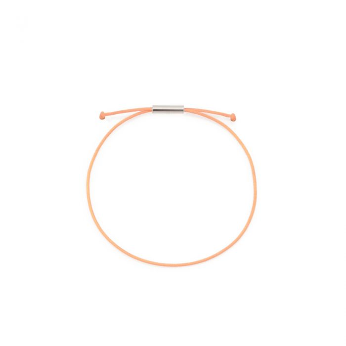 be patient armband peach silber