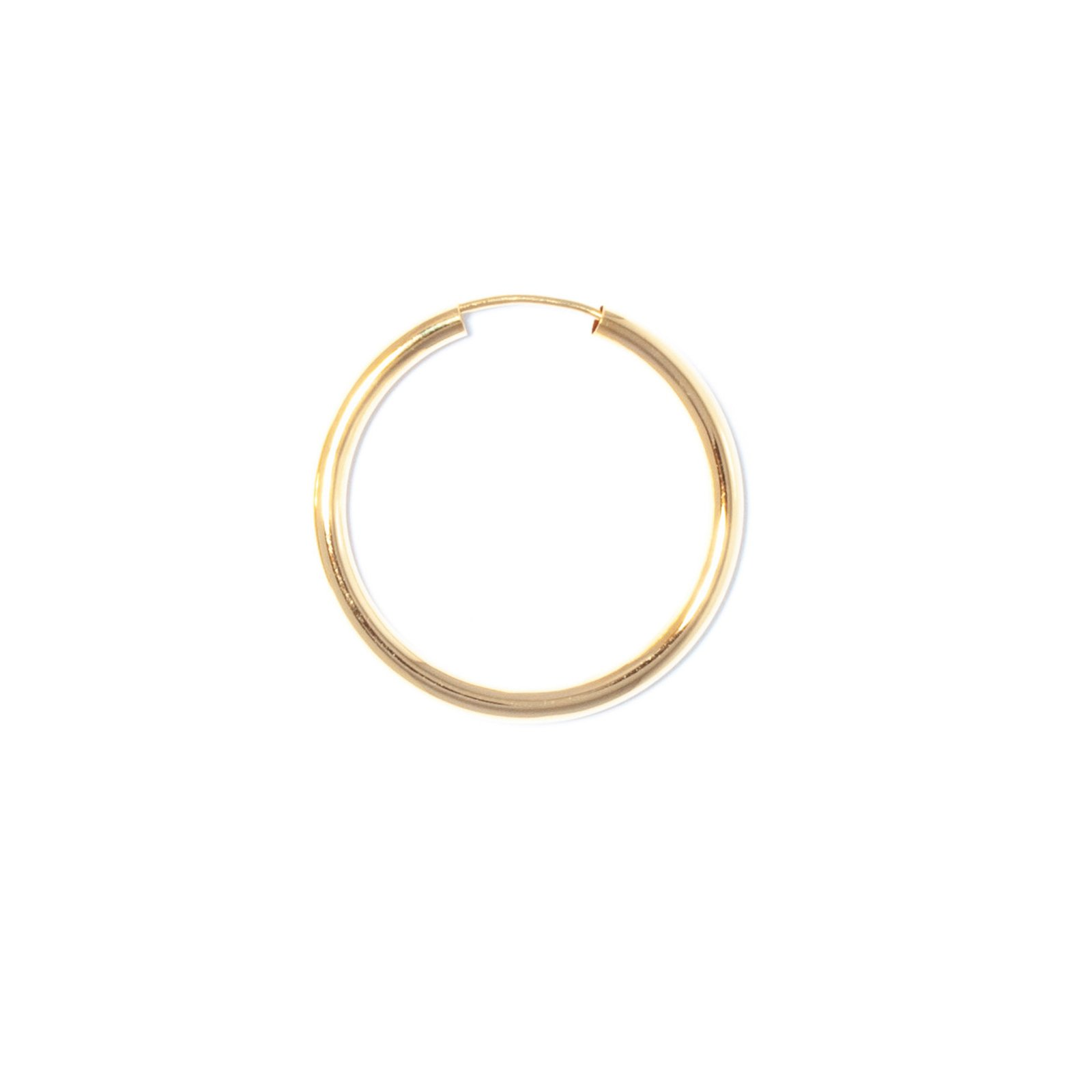 big hoop single 30mm gold earring ariane ernst