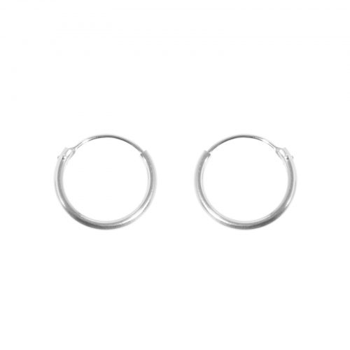 mini hoops 13mm silver earrings ariane ernst